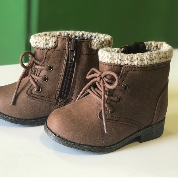 2b186d406f2e2 Garanimals Baby Girls Combat Boot Brown Color New NWT